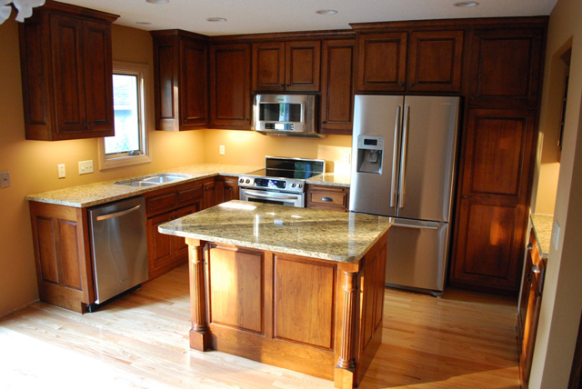 Custom cabinets mn custom kitchen island for Kitchen island with cupboards