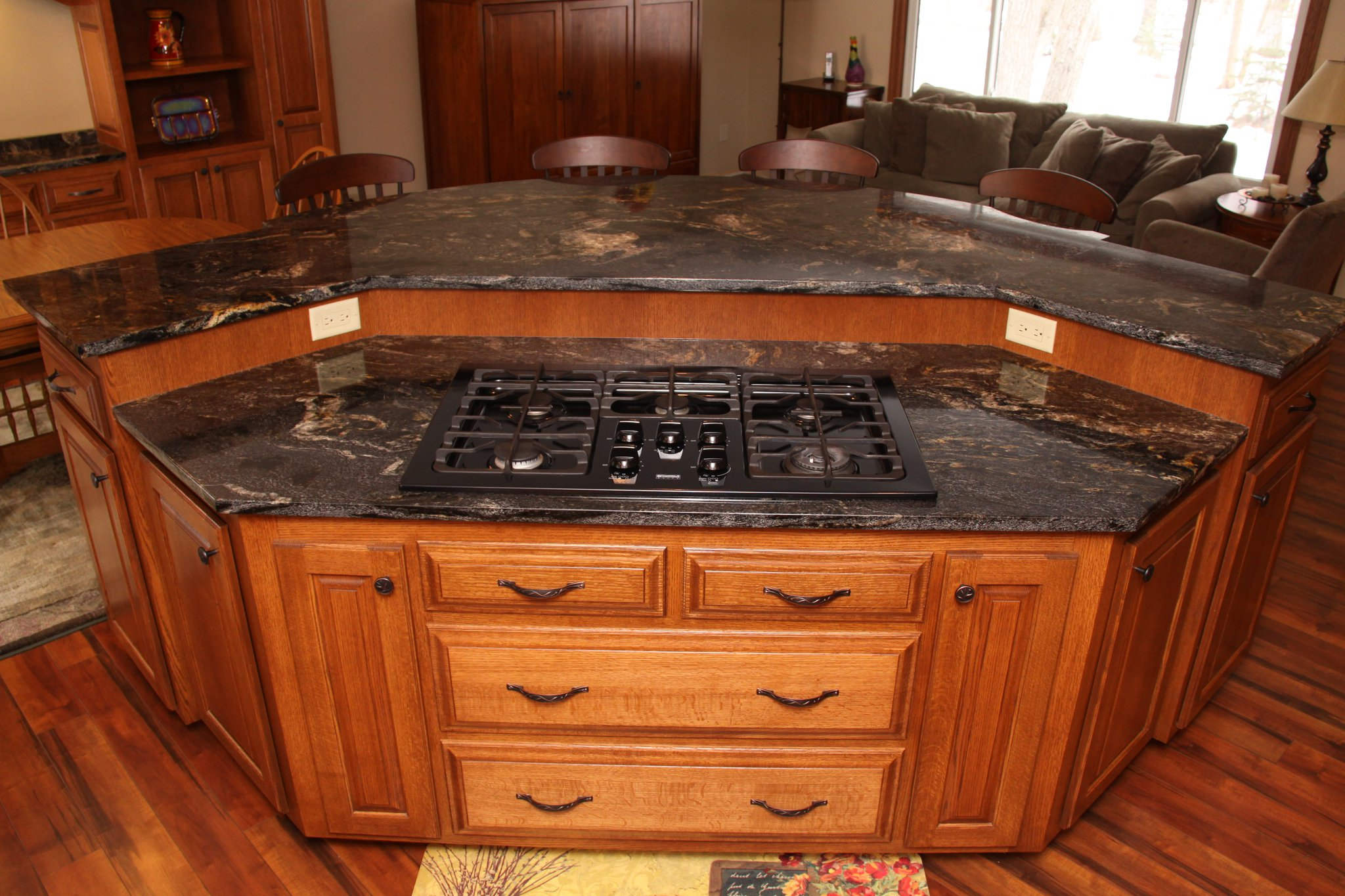 Custom Kitchen Island with Stove