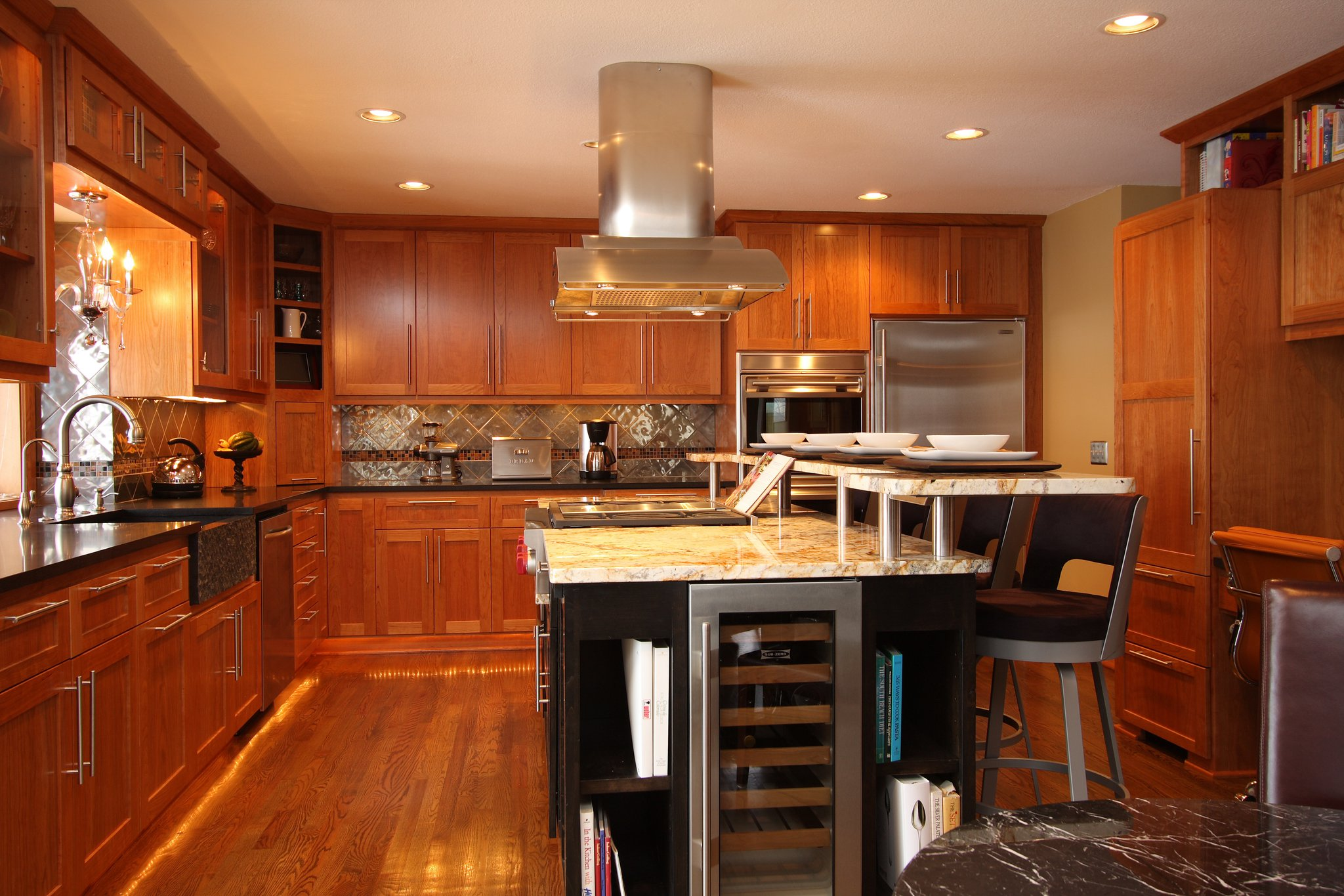Mn custom kitchen cabinets and countertops custom kitchen island for Kitchen cabinet with island design