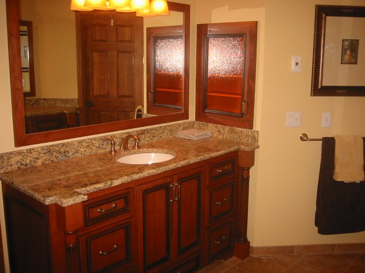 Interior design gallery bathroom cabinets for Custom bathroom vanity designs