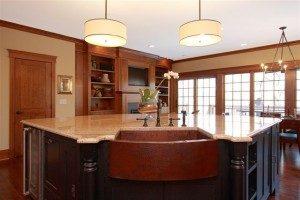 Built In Custom Island in Kitchen