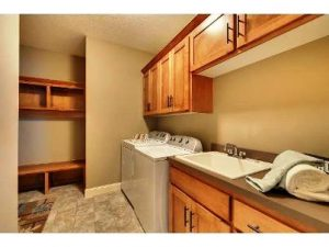 Built In Custom Cabinets For a Laundry Room