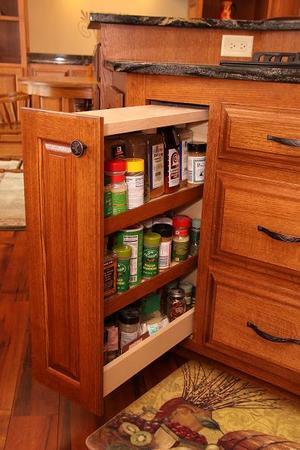 Custom Cabinet Spice Rack
