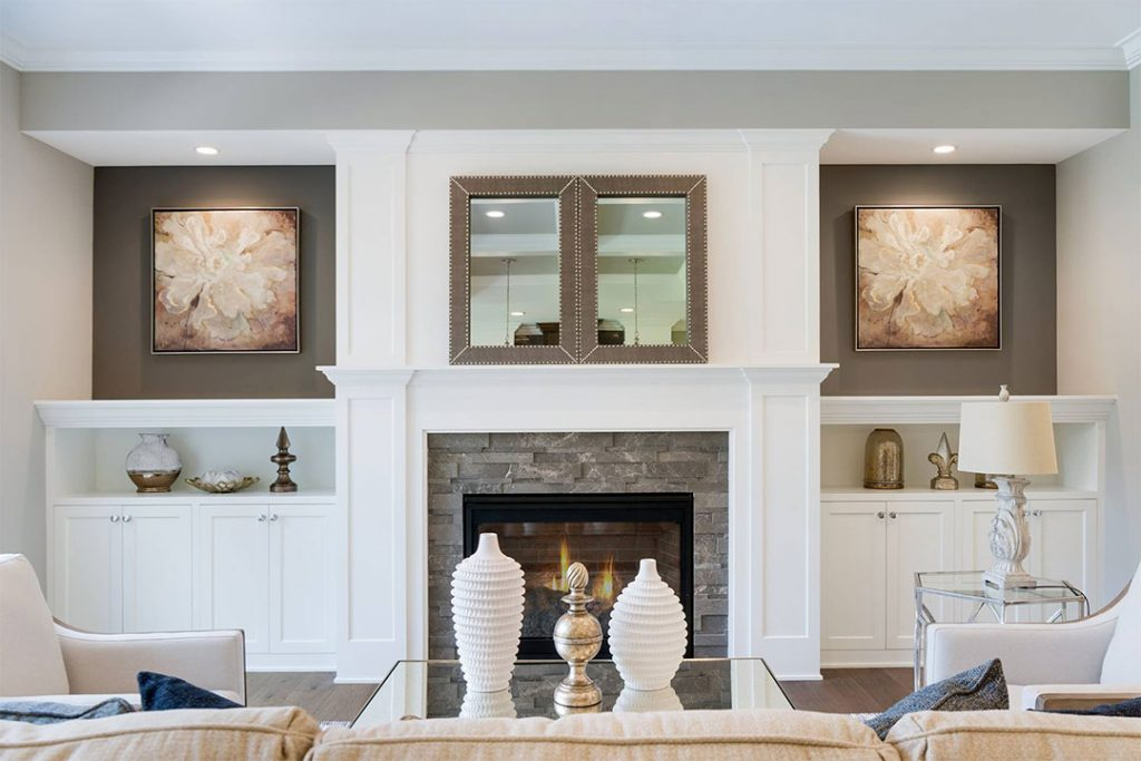 Custom Fireplace Surround Cabinets