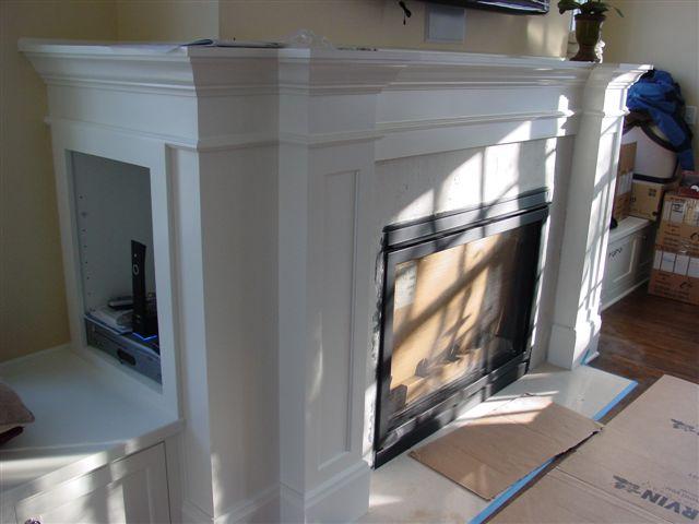 Custom Fireplace Cabinets
