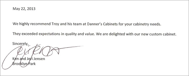 Image of a client testimonial