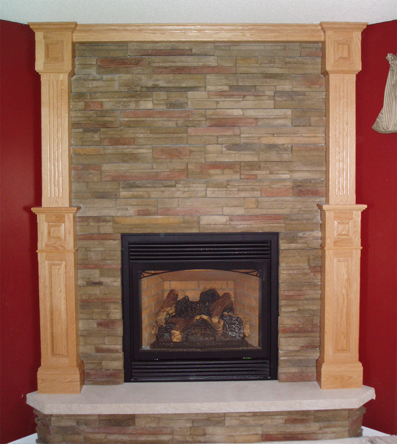Fireplace Cabinets: Custom Corner Fireplace