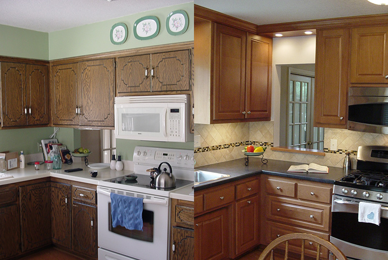 Before & After Kitchen Cabinets