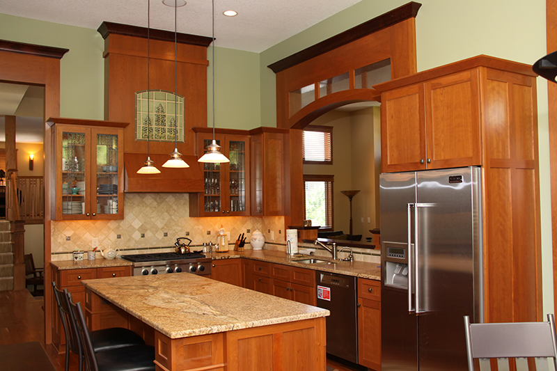 Kitchen remodel with custom countertops kitchen cabinets mn for Custom kitchen remodel