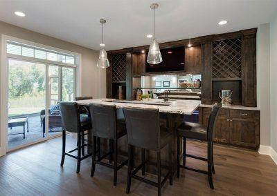Custom Mahogany Kitchen Cabinets