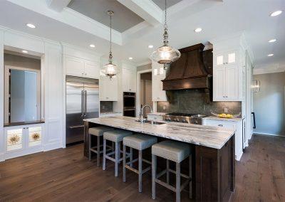 Custom Paint Grade Kitchen Cabinets Angle 2