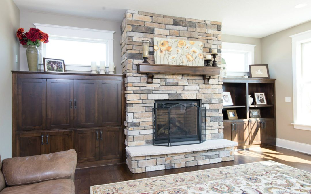 Custom Fireplace & Cabinets